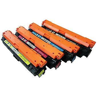 החלפת RudyTwos עבור HP 307A הגדר מחסנית טונר שחור ציאן מגנטה & תואם צהוב עם צבע LaserJet CP5225, CP5225dn, CP5225n