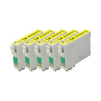 RudyTwos החלפת 5x עבור Epson 18XL (דייזי) יחידת דיו תואם צהוב עם ביטוי Home XP-102, XP-202, xp-205, xp-212, xp-215, xp-225, xp-33, xp-302, xp-, xp-,--, מ, xp-305, xp-3