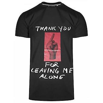 Antony Morato Sport Crew Neck Black 'Thank You' T-Shirt