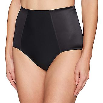 Arabella Women's Shine Microfiber Brief with Spacer, Black, X-Large