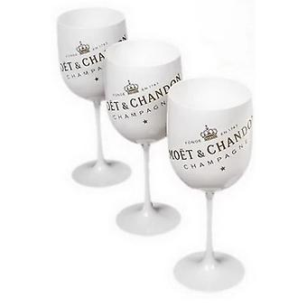 Plastic Wine PARTY White Champagne Glass MOET Wine One Piece Coffee Cup & Saucer Sets