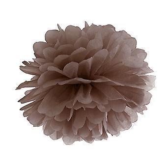 35cm brunt mjukpapper Pom Pom Party Dekoration