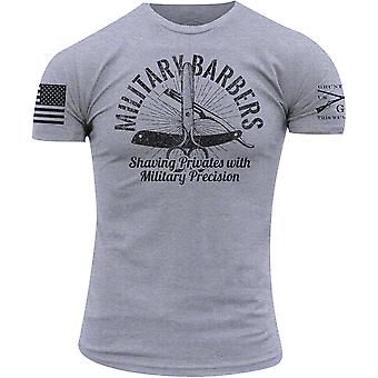 Grunt Stile Militare Barbers T-Shirt - Heather Grigio