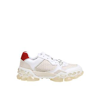 Jimmy Choo Diamondxffhfwht Women's White Leather Sneakers