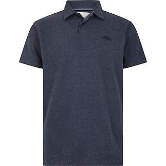 Weird Fish Men's Quay Polo T-Shirt Blue