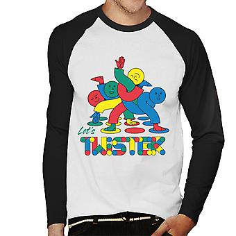 Twister Players Tangled Up lascia Twister Uomini's Baseball T-Shirt a maniche lunghe
