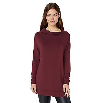 Marca - Daily Ritual Women's Supersoft Terry Modern Funnel-Neck Tunic, Borgonha, X-Small