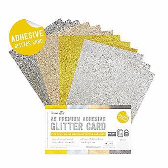 Dovecraft Klebstoff Glitter Blätter A5 Metallic