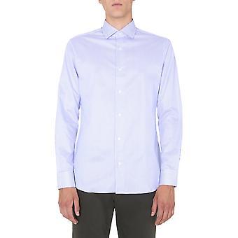Z Zegna 805012zcsf1g Men's Light Blue Cotton Shirt