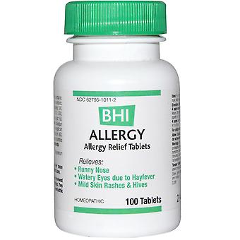 MediNatura, BHI, Allergy, 100 Tablets