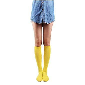 10STAR11 Women's Cotton Durable Colorful Solid Knee High Socks ASSTA5P,O