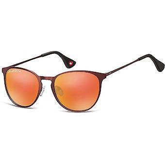النظارات الشمسية Unisex Cat.3 بوردو / البرتقال (MS88D)