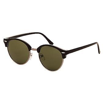 Solbriller Unisex svart med grønn linse (2160 P)