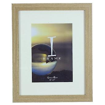 Juliana Mounted Wood Finish Photo Frame 5x7 - Light Oak Brown