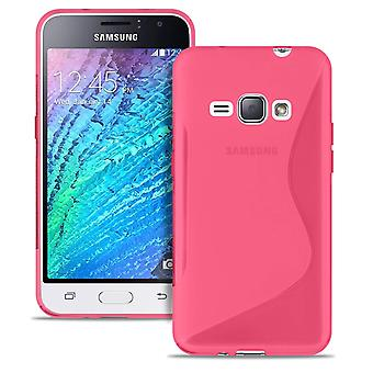 Ultra Slim Case for Samsung Galaxy J1 (2016) Ultra Thin Patterned Silicone Pink