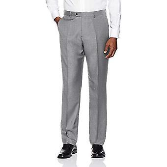 BUTTONED DOWN Men's Tailored Fit Super 110 Italian Wool Suit Dress Pant, Light Grey, 34W x 34L