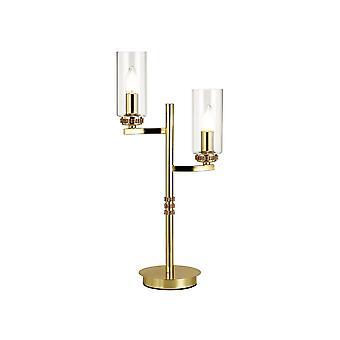Lampada da tavolo, 2 x E14, oro polacco
