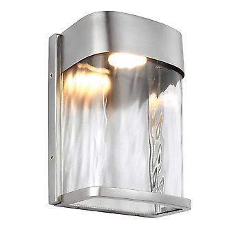 Elstead Bennie - LED 1 Lys Udendørs Lille væg Lys Malet børstet stål IP44