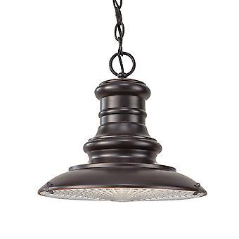 Elstead Redding Station - 1 lett medium utendørs takkjede lanterne restaurering bronse, E27