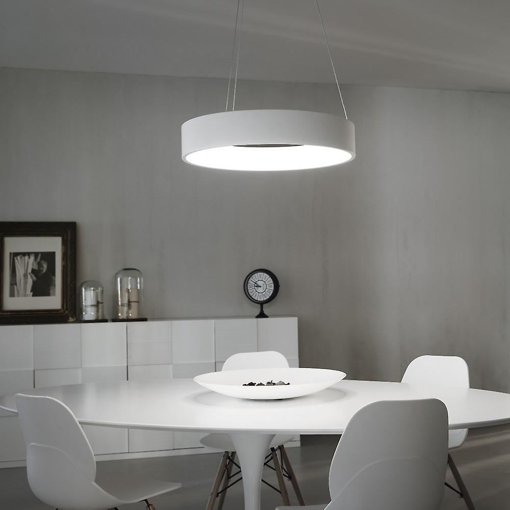 Ideal Lux Stadium - Integrated LED Light Ceiling Pendant White