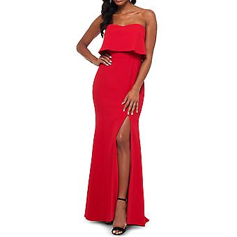Xscape | Strapless Popover Evening Gown