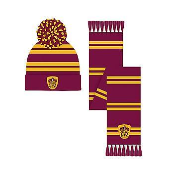 Harry Potter Grifinória Crest Bobble Hat e Cachecol
