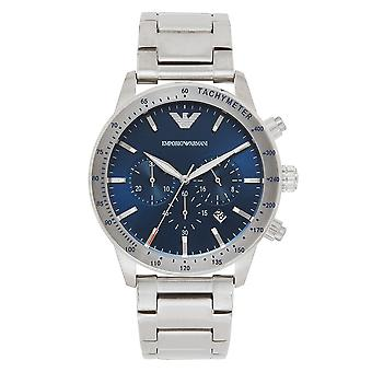 Armani Ar11306 Blue And Stainless Steel Mens Watch