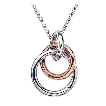 Hot Diamonds Eternity sølv & 18ct rose gull Vermeil fanget sirkler anheng DP373