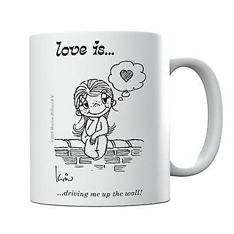 Love Is Driving Me Up The Wall Mug