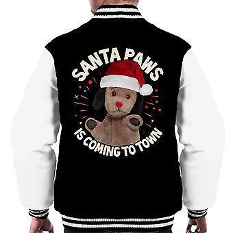 Roetveegperij Santa Paws komt naar town men's Varsity Jacket