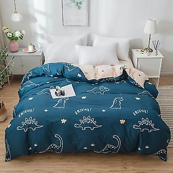 Dual-sided Duvet Cover  Soft Comfortable Cotton Printing Comforter -textiles Quilt Cover Set 1