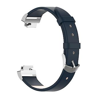 Pour Fitbit Inspire / 2 / HR / Ace 2 Band Genuine Leather Replacement Wristband Strap[Blue]