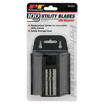 Performance Tool W7501 100PK Utility Knife Blades