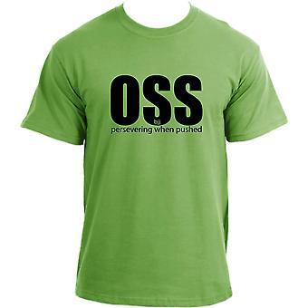 """Brazilian Jiu Jitsu OSS """"persevering when pushed"""" MMA UFC BJJ T-shirt"""
