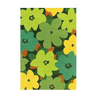 Sam Matta 4135 Flerfärgad/Grön Blommor 120x180cm