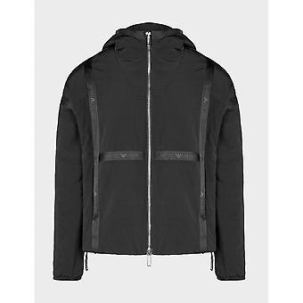 Emporio Armani Polyester Hooded Black Jacket