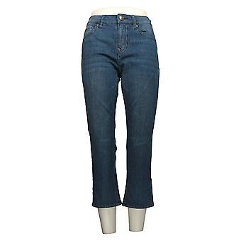 DG2 af Diane Gilman Women's Petite Jeans Blue Striped Beskåret 704-875
