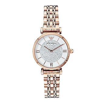 Armani Ar11244 Rose Gold Glitz Stainless Steel Ladies Watch