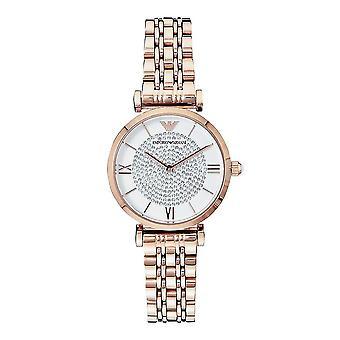 Armani Ar11244 Ruusukulta Glitz Ruostumaton Teräs Naisten Watch