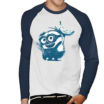 Despicable Me Bob The Minion Banana Art Men''s Baseball Long Sleeved T-Shirt