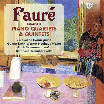 Faure - Comp Piano kvartetter & kvintetter [CD] USA import