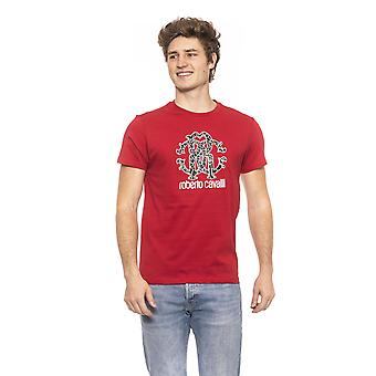 Roberto Cavalli Beachwear Agiina Red Short Sleeves T-shirt