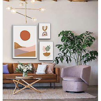 Zigeuner-Home - nicht übereinstimmende Größe Drucke lila Ocker geometrische Fett Wand Kunstdrucke