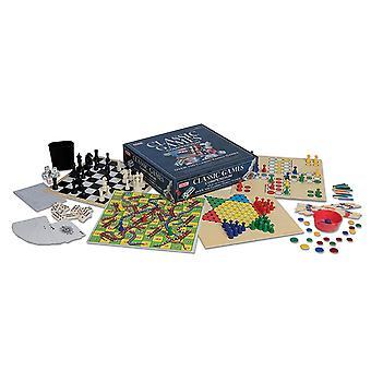 100 Classic Games Compendium Set - Chess, Draughts, Ludo etc