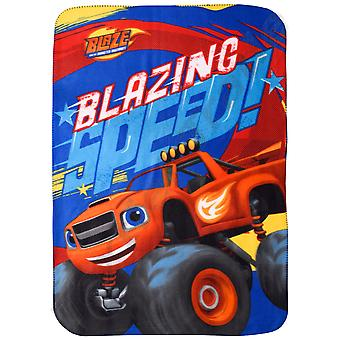 Blaze kids blanket throw polar fleece blz5780bkt