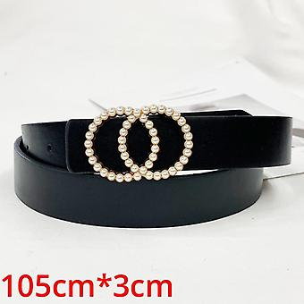 Fashion Women Pu Leather Belt Heart Female Cute Black Harajuku Belt Ladies