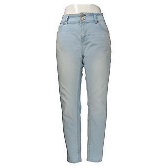 Wallflower Women's Jr Jeans The Luscious Cuvy Fit Skinny Leg Blue