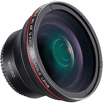 52MM 0.43x Professional HD Wide Angle Lens (Macro Portion) for NIKON DSLR Camera