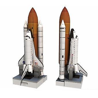 1:150 Space Shuttle Atlantis - Space Rocket, 3d Paper Card Model Building Sets