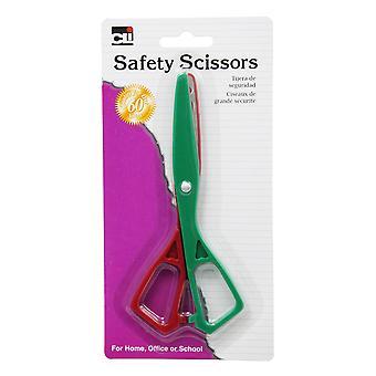 """Tijeras - Seguridad - Plástico - 5 1/2"""" - Asst. Color"""